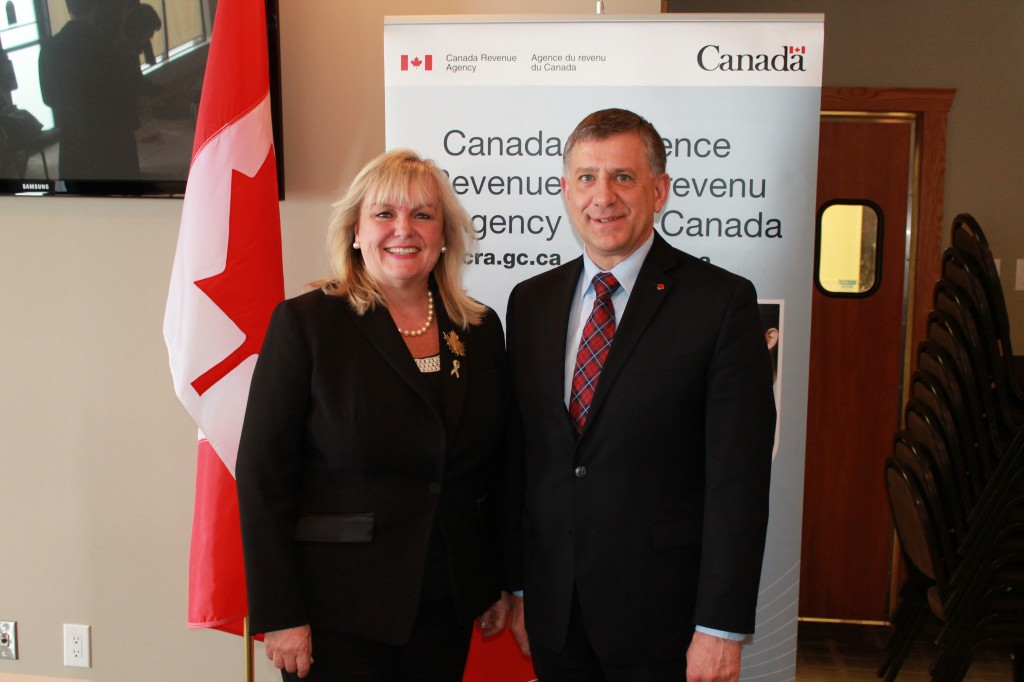 Business luncheon - MP Falk and Honourable Kerry-Lynne D. Findlay, Minister of National Revenue in Steinbach, MB