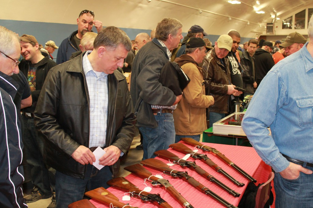 MP Ted Falk at the Dugald Gun Show