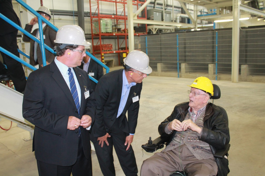 MP Falk and Minister Sorenson toured WS Steel and Barkman Concrete in Steinbach