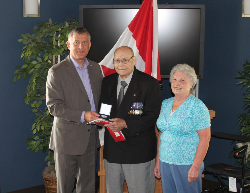 Presentation of Service Award to WWII Veteran Leo Beaupre